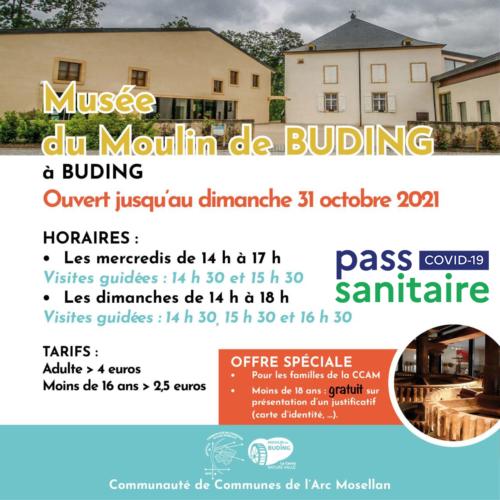 Ouverture Moulin de Buding pass sanitaire